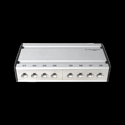 Patch box mini 8×RJ45 Kat.6 STP, al-gu, geschirmt