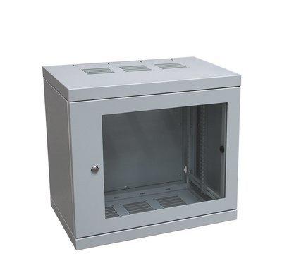 Wandgehäuse mit Glastüre T = 400mm 10HE