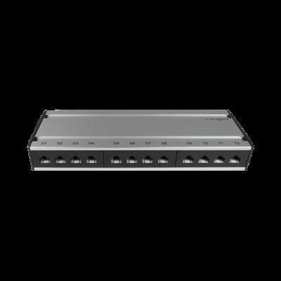 Patch box mini 12×RJ45 Kat.6 UTP, al-gu, ungeschirmt