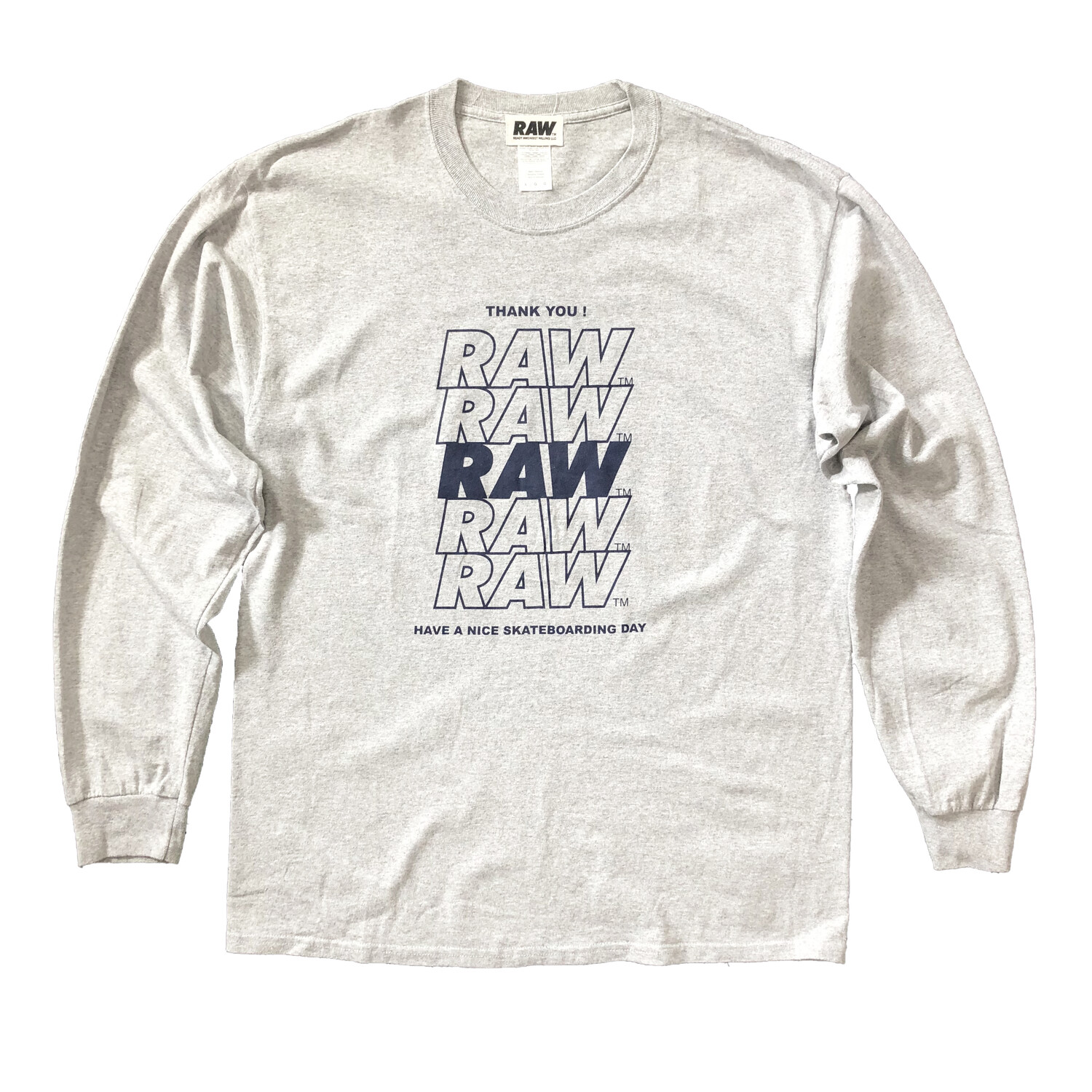 RAW Thank You tee L/S : XL