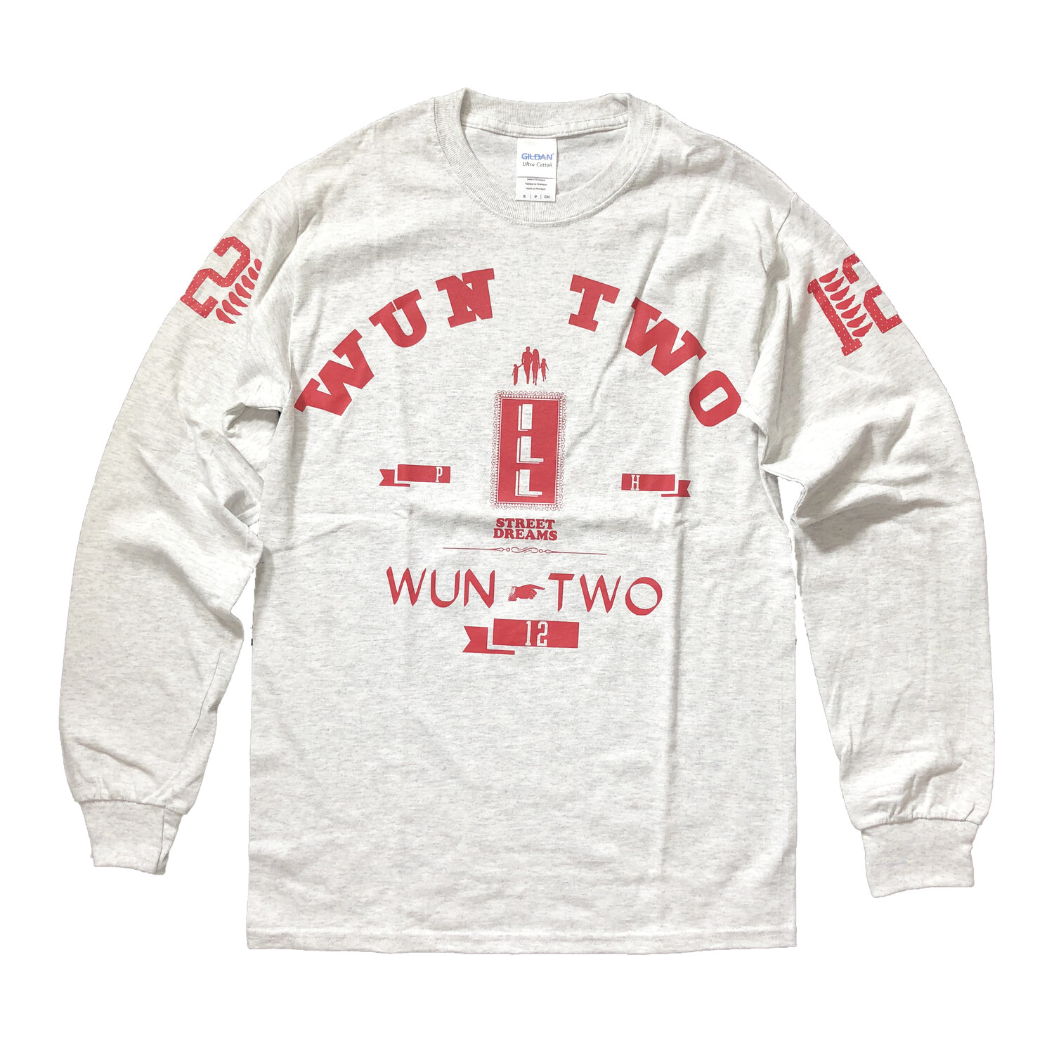 One Two tee L/S Ash Gray