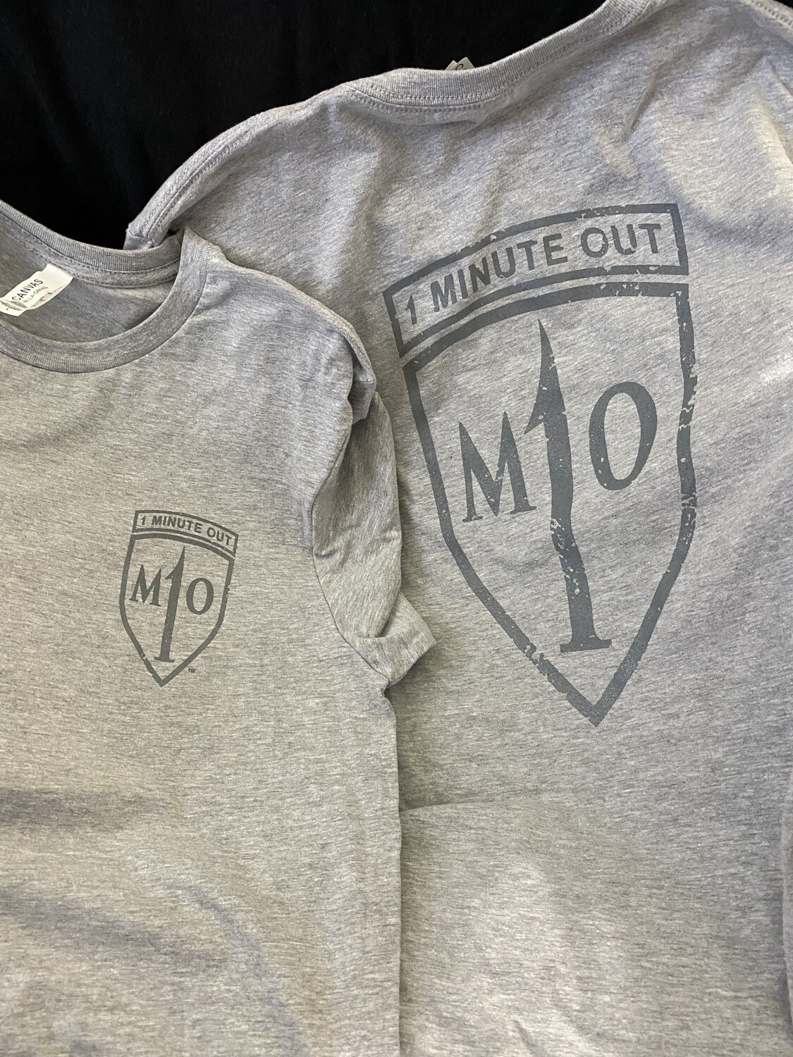 1 Minute Out Logo T-Shirt Heather Gray