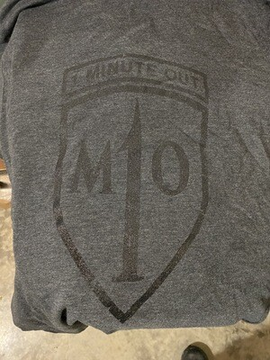 1 Minute Out Logo T-Shirt Heather Charcoal Gray