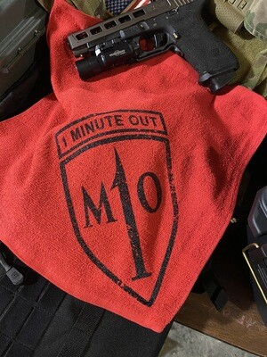 1 Minute Out Logo Cotton Towel