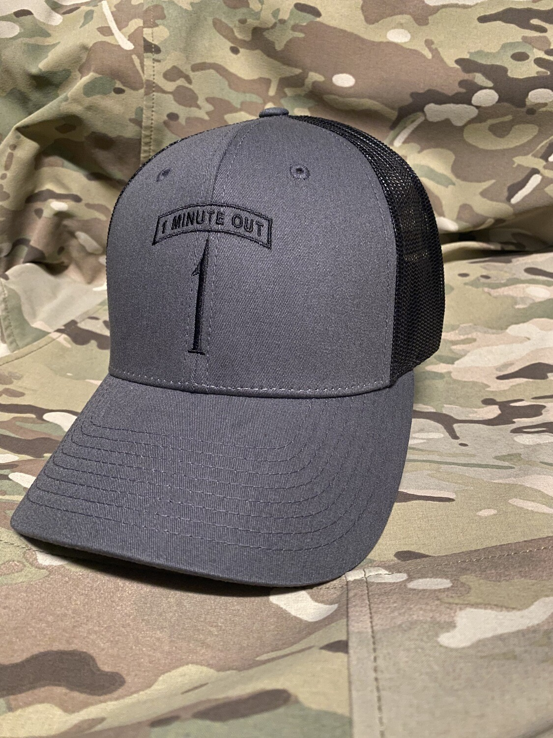 1 Minute Out Hat Charcoal/BLK 112
