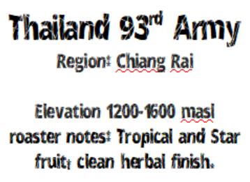 Thailand 93 A-R-M-Y