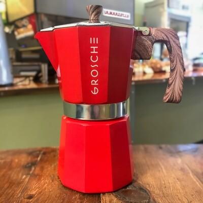 Grosche Moka Pot (Red) 6 Cup