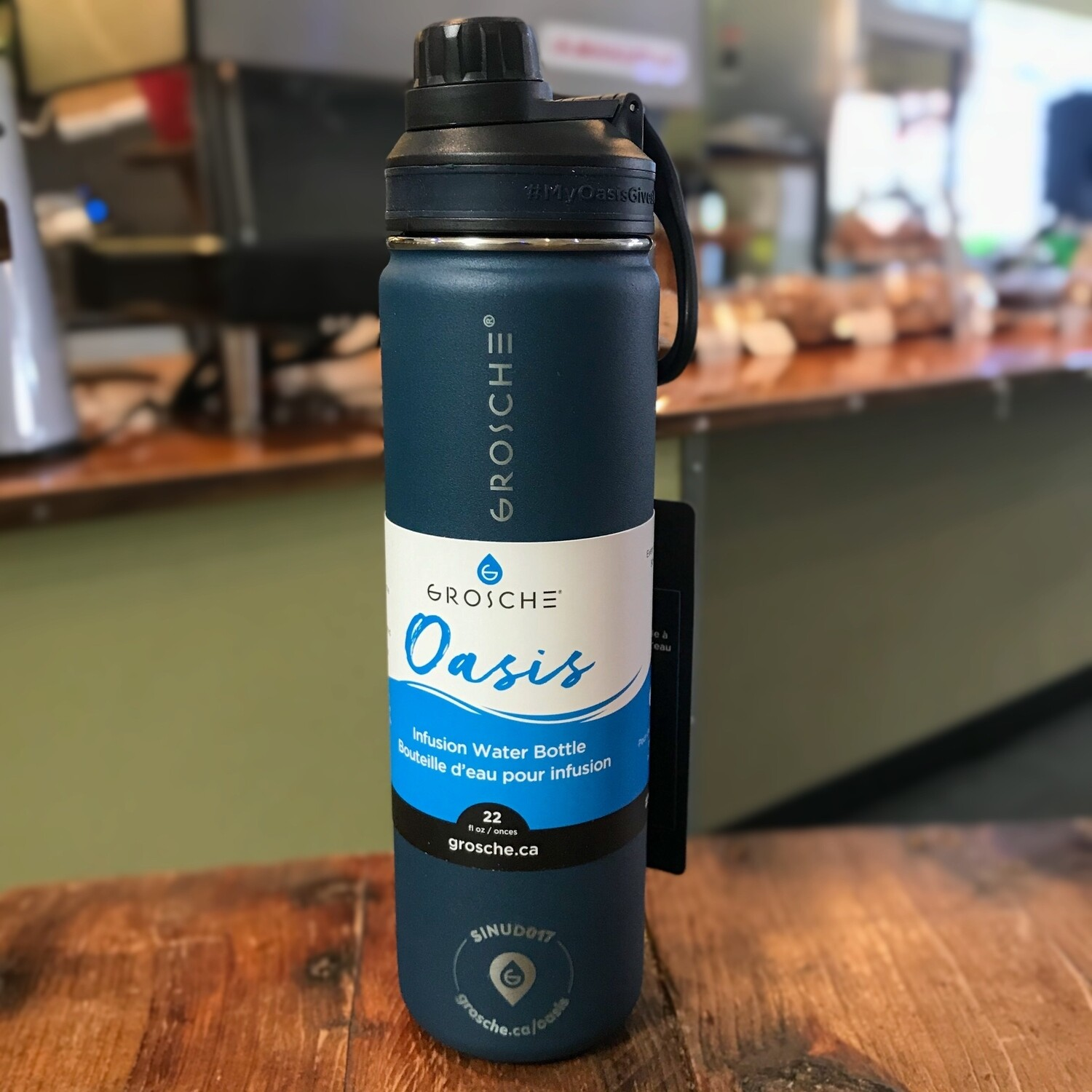 OASIS Infusion Water Flask (Blue)