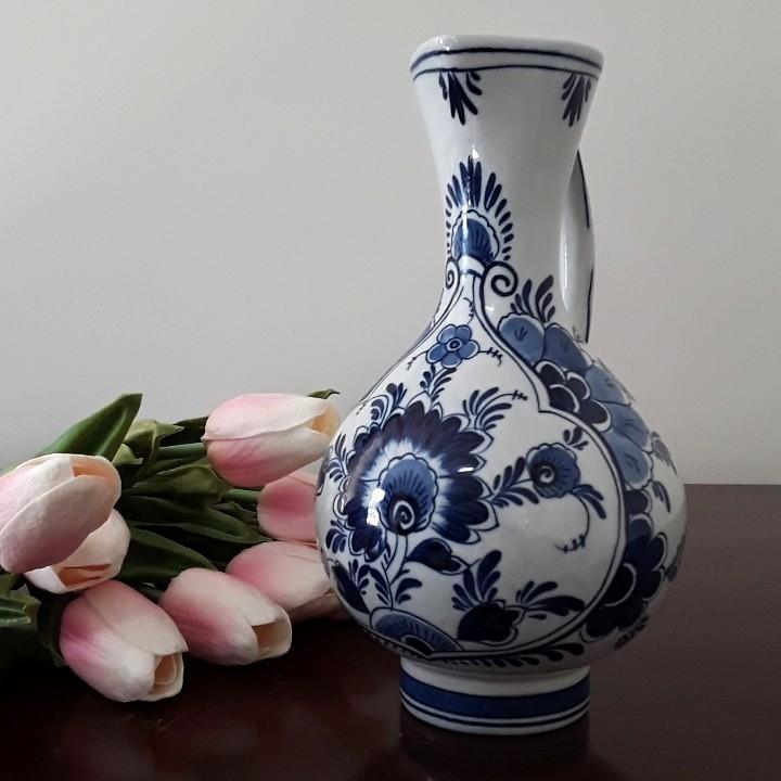 Vintage Delfts Blauw Blue and White Porcelain Pitcher