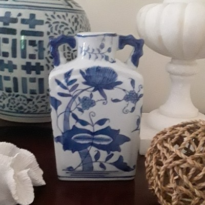 Vintage Formalities by Baum Bros. Blue and White Porcelain Vase