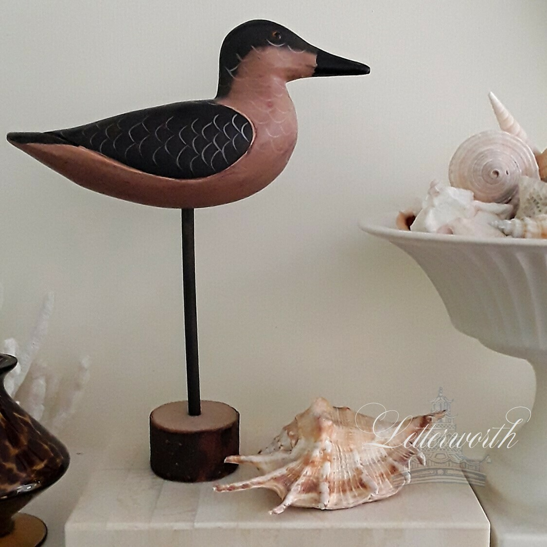 Vintage Hand-Carved Duck Decoy