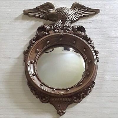 Vintage Syroco Federal Regency Convex Mirror