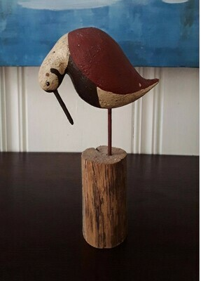 Vintage Hand-Carved Shorebird Decoy