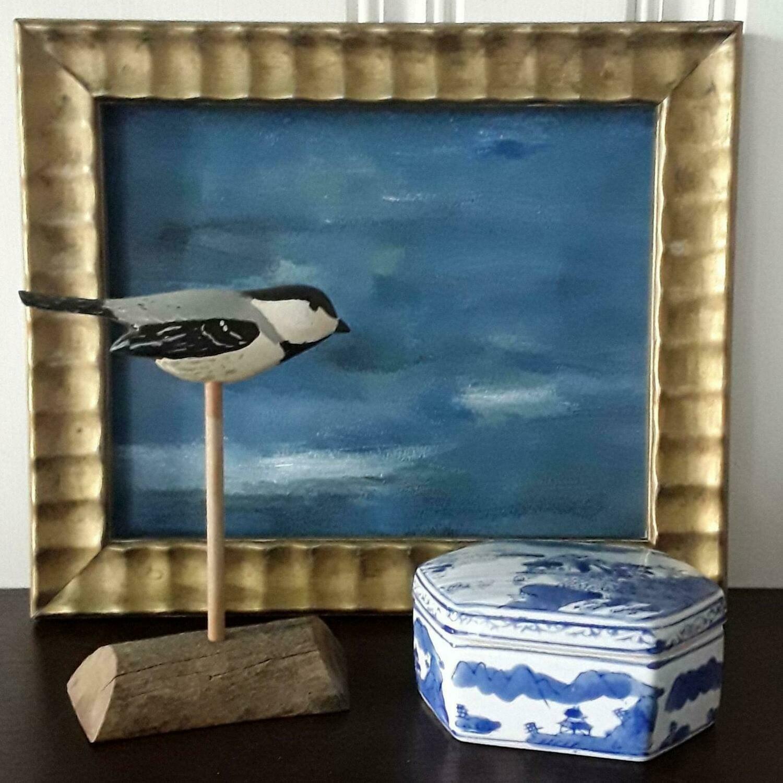 Vintage Hand-Painted Shorebird Decoy