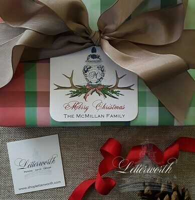 Holiday Plaid Gift Wrapping Paper by Letterworth