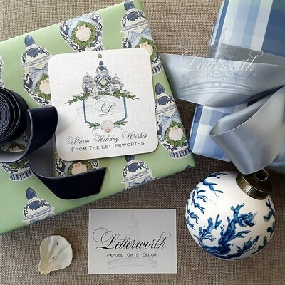 Coastal Chic Ginger Jar Gift Wrapping Paper by Letterworth