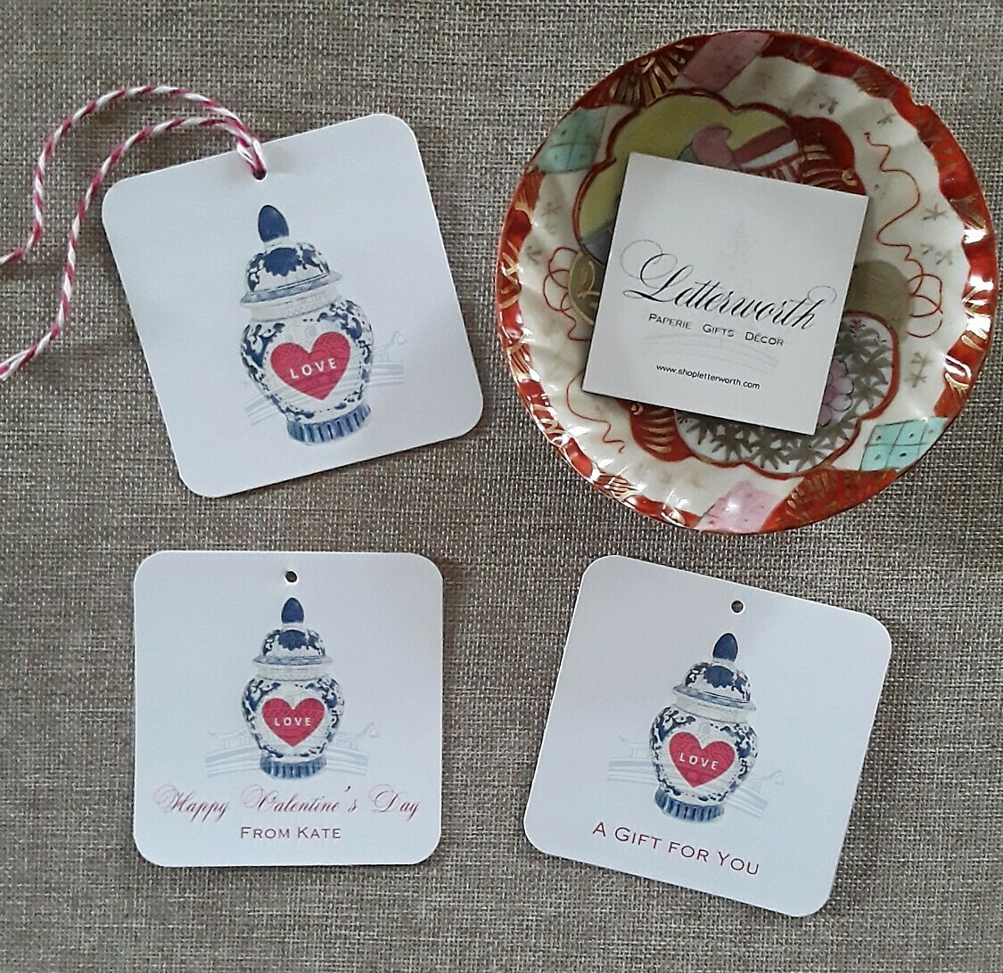 Signature Ginger Jar Valentine's Day Gift Tags by Letterworth (Set of 12)