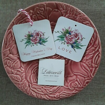 Pink Watercolor Roses Gift Tags by Letterworth (Set of 12)