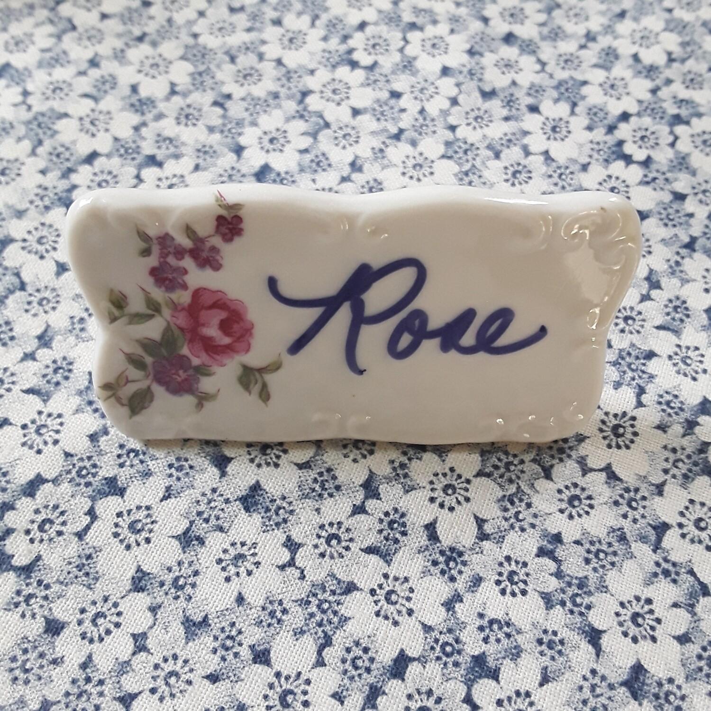Vintage Porcelain Floral Place Cards (Set of 10)