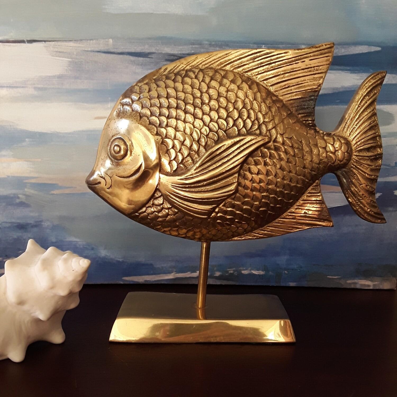 Vintage Brass Fish Figurine