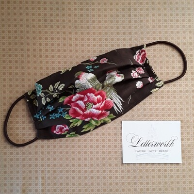 Brown Bird Fabric Face Covering/Mask by Letterworth
