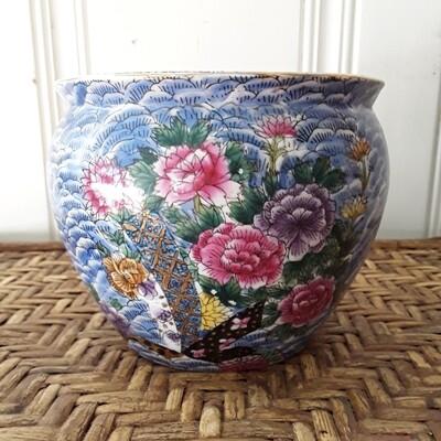Vintage Mille Fleur Chinese Porcelain Cachepot