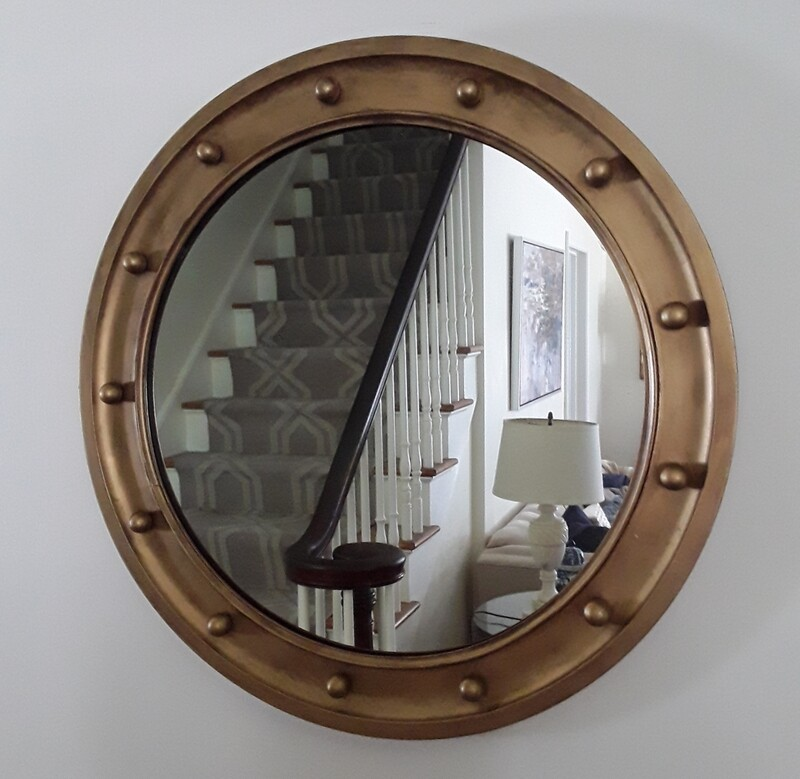 Vintage Gilded Wood Federal Mirror