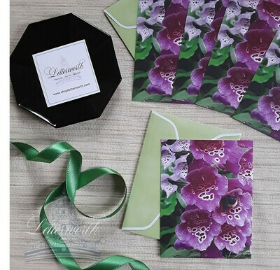 Foxglove Note Cards by Letterworth (Set of 5)