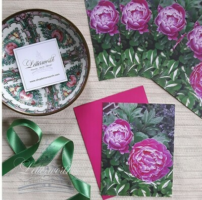 Heirloom Peony Note Cards by Letterworth (Set of 5)