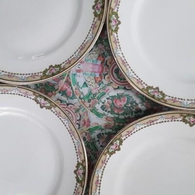 Vintage W.S. George Derwood Plates (Set of 4)