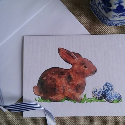 Chinoiserie Rabbit Easter/Spring Note Cards by Letterworth (Set of 8)