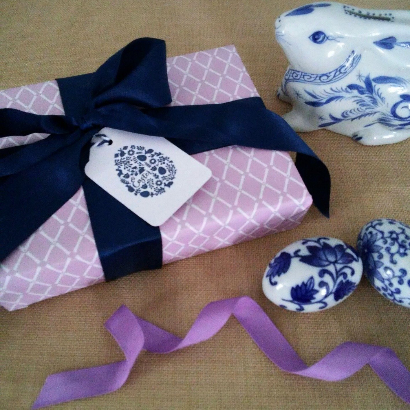 Violet Bamboo Trellis Gift Wrapping Paper by Letterworth