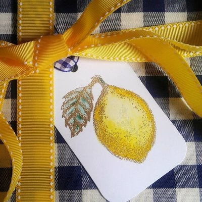 Hand-Embossed Lemon Gift Tags by Letterworth (Set of 10)