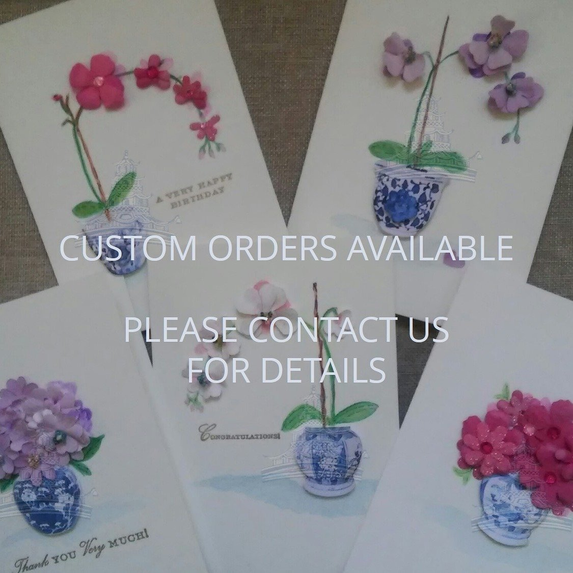 Letterworth Floral Chinoiserie Handmade Greeting Cards Boxed Set (Set of 5)
