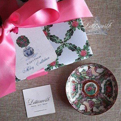 Chinoiserie Rose Topiary Gift Tags by Letterworth (Set of 12)