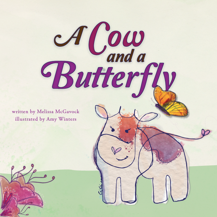 Cow and Butterfly Children's Book