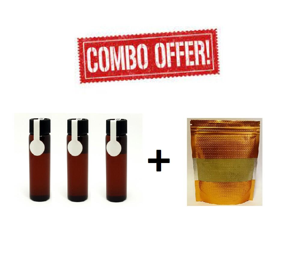 Combo Offer : 3 Vials 12mL & 25Gram 50X Extract