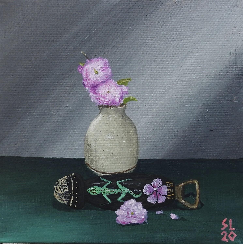 Still Life w/ Flowers & Bottle Opener