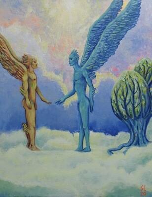 Bird Man Meets Sky People