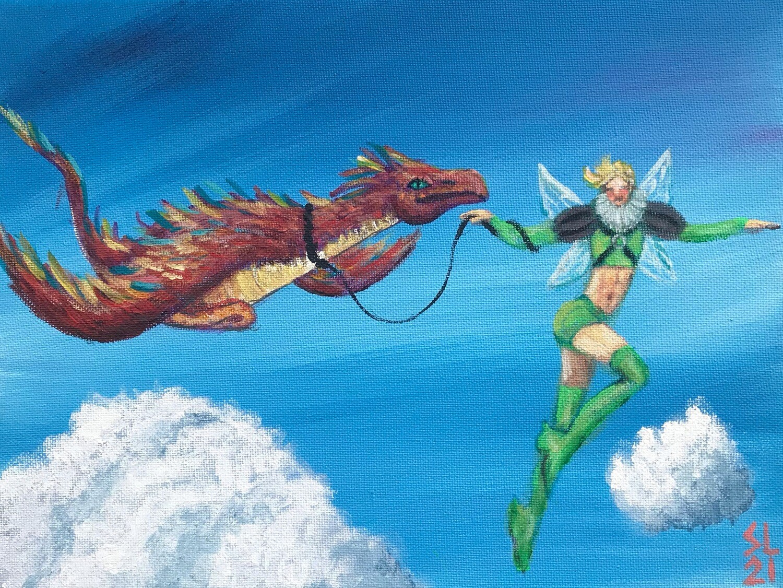 Fairy Boy Twink & Svendra the Dragon
