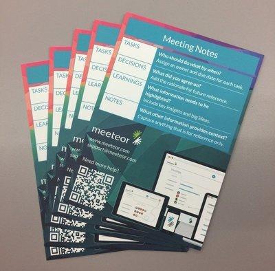 Meeting Postcard Cheat Sheet (Set of 10)