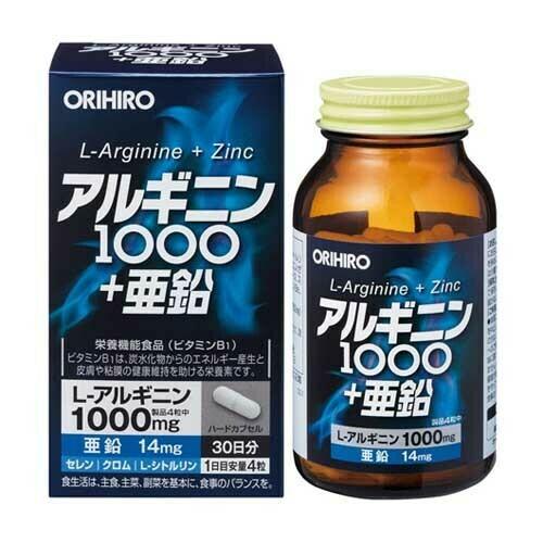 ORIHIRO Orihiro L-Arginine 1000 + Zinc30