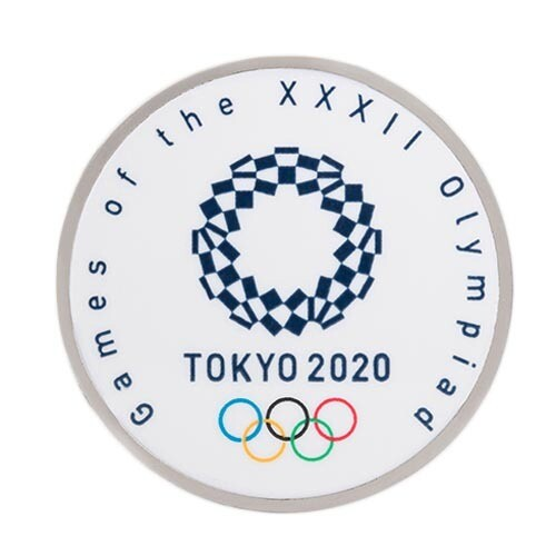 Tokyo Olympic Games 2020 Round or Square Pin Badge