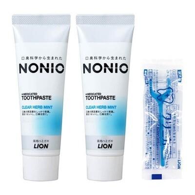 LION NONIO Medicated Toothpaste x2pcs