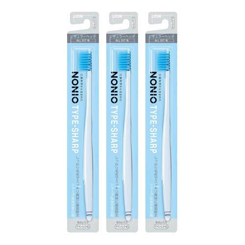 LION NONIO TYPE-SHARP Toothbrush  x3pcs