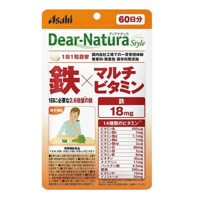 Asahi Dear-Natura Style Мультивитамины с Железом