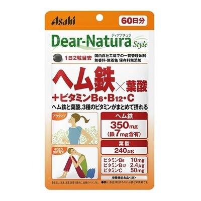 Asahi Dear-Natura Style Heme Iron x Folic Acid + Vitamin B6, B12, C