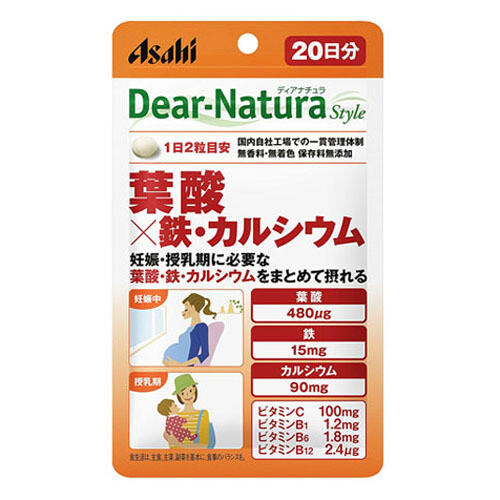 Asahi Dear-Natura Style Folic Acid + Iron / Calcium