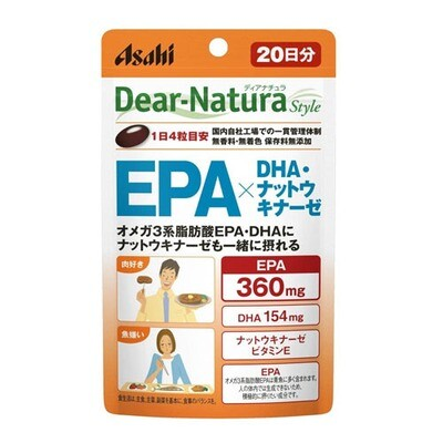 Asahi Dear-Natura Style EPA x DHA + Наттокиназа