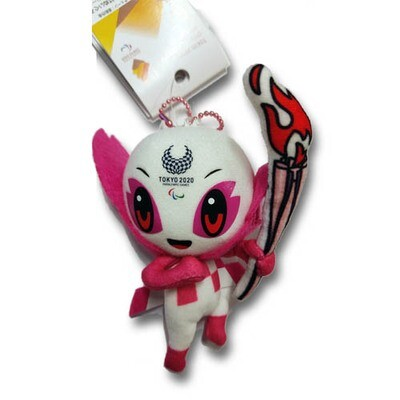 Tokyo 2020 Olympic Mascot Plush Toy Official Merchandise (SS Size)(Pink)
